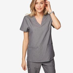 NWT FIGS Casma Graphite Scrubs 3 Pocket Top Shirt